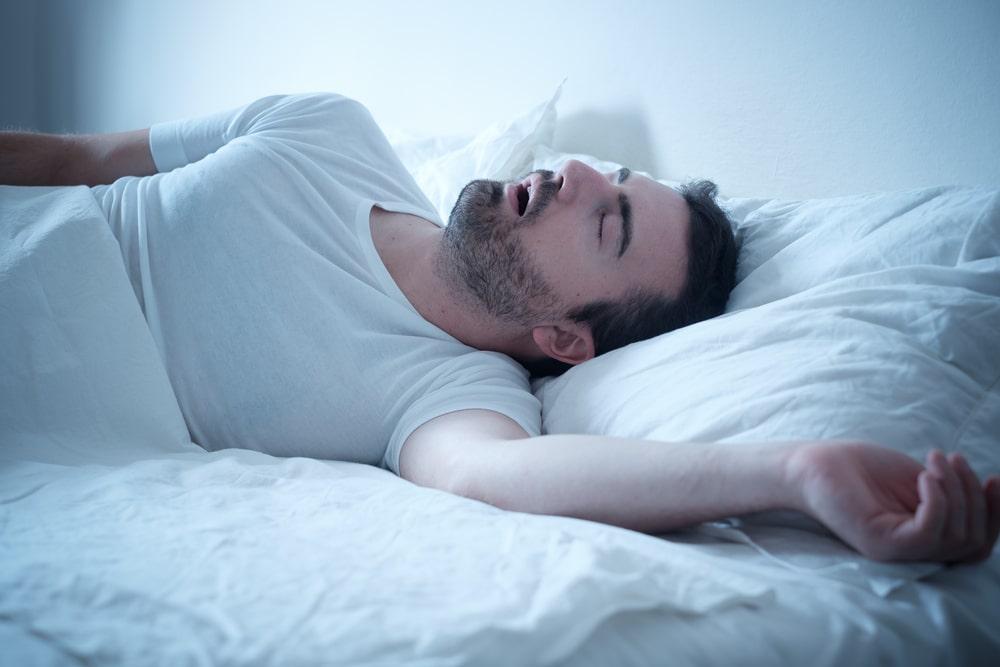 Snoring while sleeping
